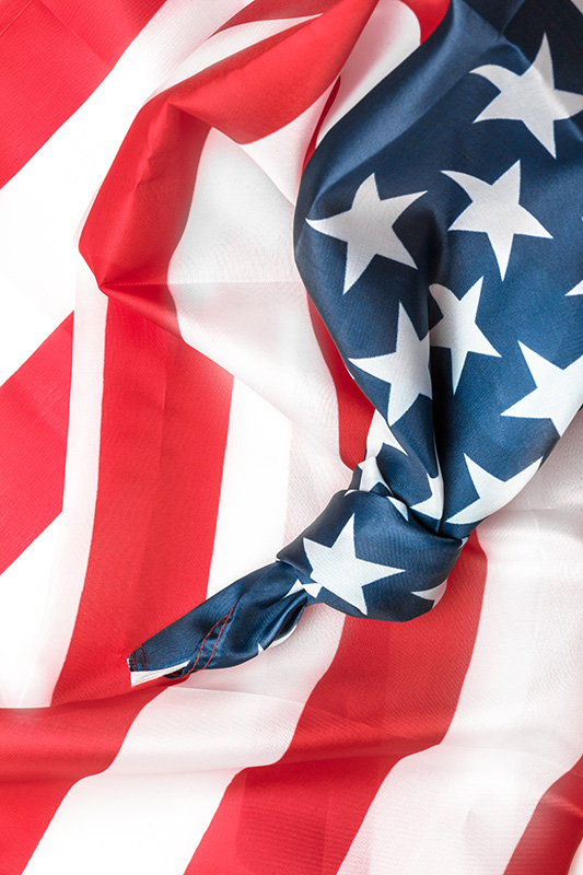 Burn Survivor Family Help American Flag