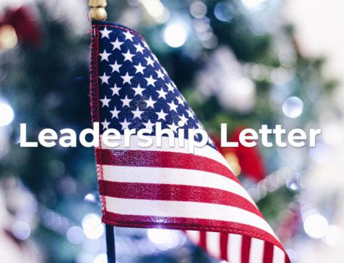 Leadership Letter – December 2019