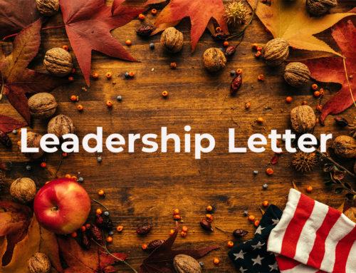 Leadership Letter – November 2019